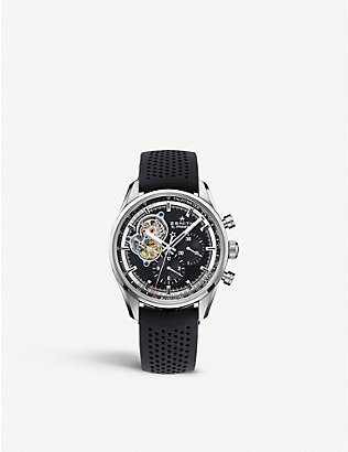 ZENITH: 03.2040.4061/21.C496 Chronomaster El Primero Open stainless steel and leather watch