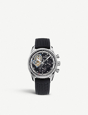 ZENITH 03.2040.4061/21.C496 Chronomaster El Primero Open stainless steel and alligator leather watch