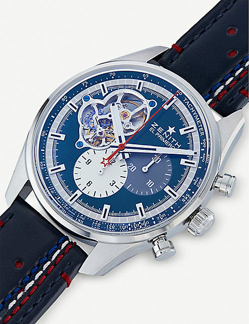 ZENITH 03.2040.4061/52.C700 Chronomaster El Primero Open 1969 stainless steel and alligator leather watch