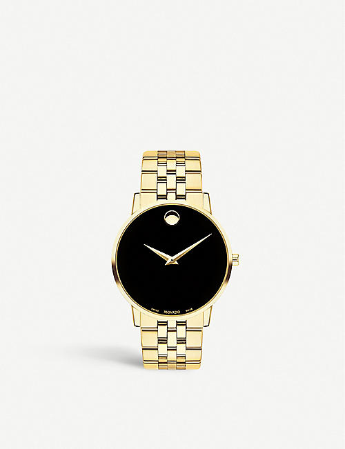 MOVADO Museum Classic gold-plated stainless steel watch