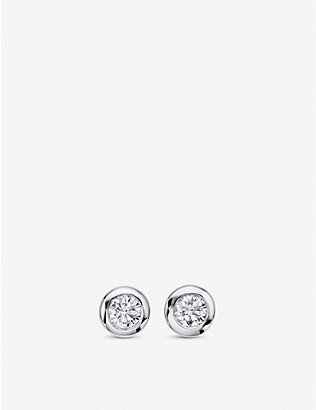 BUCHERER FINE JEWELLERY: Darling Solitaire .4ct diamond white gold earrings