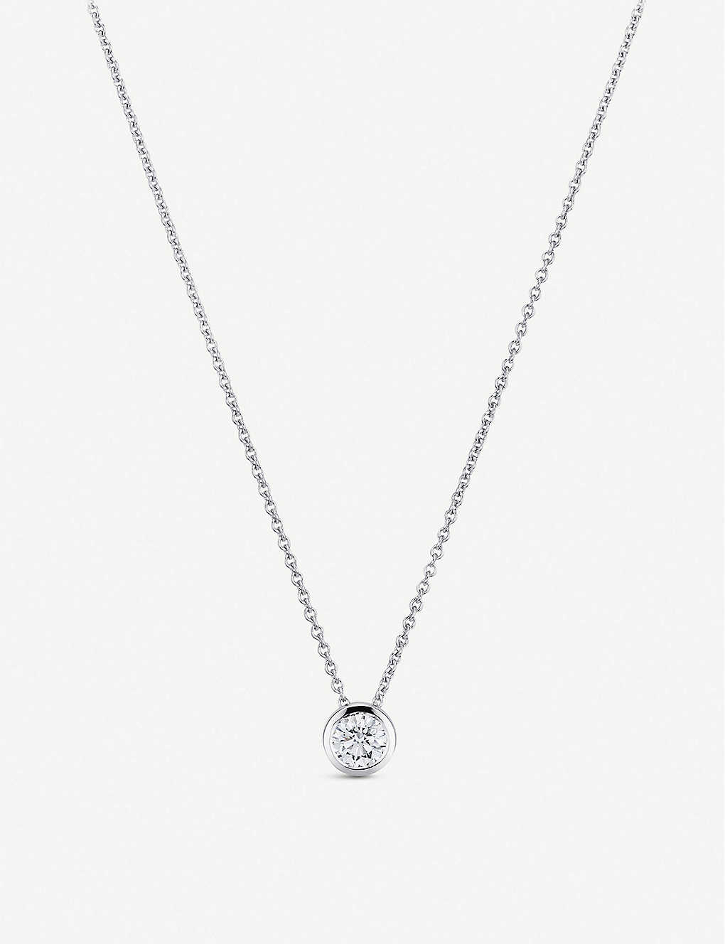 CARL F BUCHERER: Collitaire Darling 18ct white gold and diamond necklace