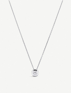 BUCHERER FINE JEWELLERY Collitaire Darling 18ct white gold and diamond necklace