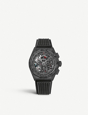 ZENITH Defy carbon fibre and rubber watch