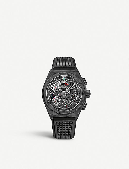 ZENITH: Defy carbon fibre and rubber watch