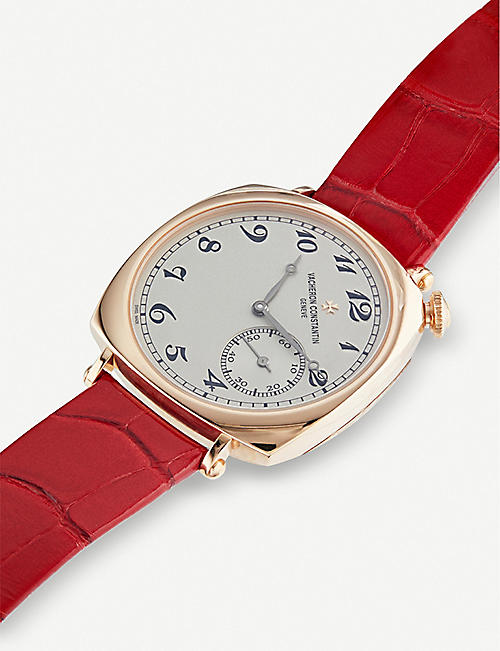 VACHERON CONSTANTIN 1100S/000R-B430 Historiques 18ct rose-gold and alligator leather strap watch