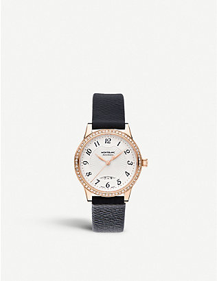 MONTBLANC: 111059 Boheme rose-gold and diamond watch