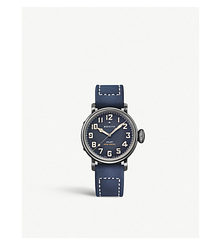 Zenith 11.1940.679/53.c808 Pilot Type 20 Extra Special Stainless Steel Automatic Pilot Watch In Blue