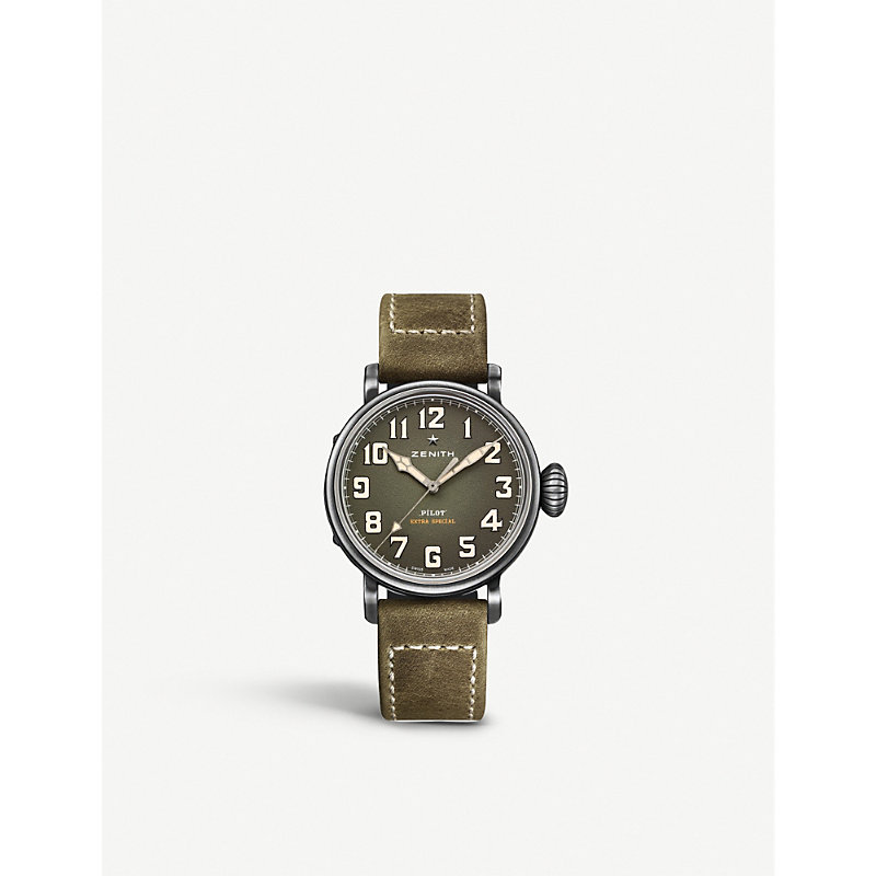Zenith 11.1940.679/63.c800 Pilot Type 20 Extra Special Automatic Watch In Brown