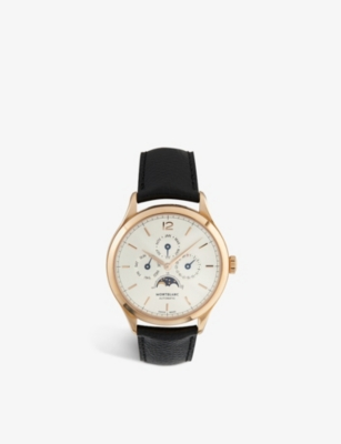 MONTBLANC 112535 Heritage Chronometrie Quantieme Annuel 18ct rose-gold and leather strap watch