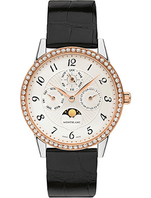 MONTBLANC Bohème Perpetual Calendar diamond and rose-gold and diamond watch