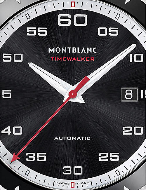 MONTBLANC 116059 TimeWalker stainless steel and rubber watch