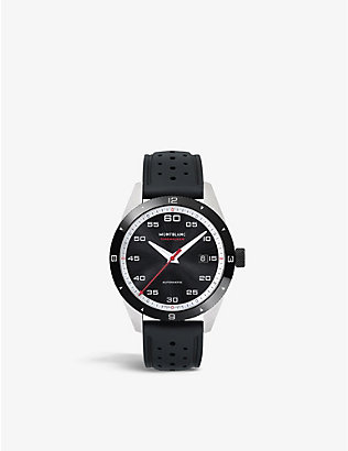 MONTBLANC: 116059 TimeWalker stainless steel and rubber watch