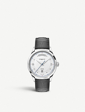 MONTBLANC 119947 Heritage stainless steel and leather watch