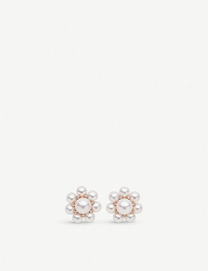 BUCHERER FINE JEWELLERY Mini Pearls 18ct rose-gold, pearl and diamond earrings
