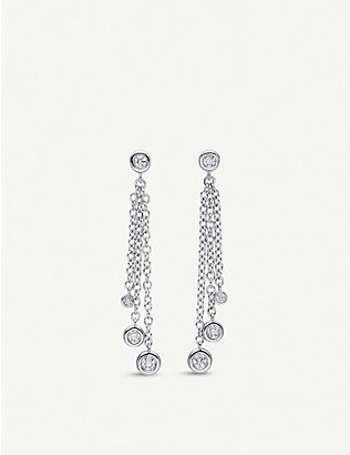 BUCHERER FINE JEWELLERY: Floating Diamond 18ct white-gold and diamond earrings