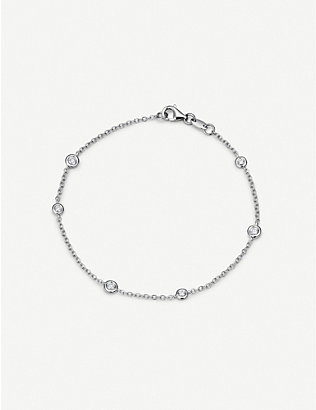 BUCHERER FINE JEWELLERY: Floating Diamonds 18ct white-gold and diamond bracelet