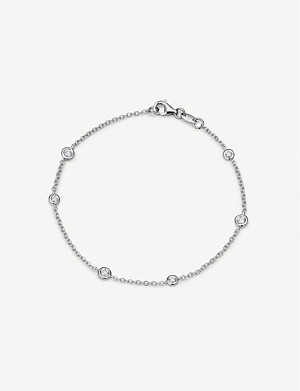 BUCHERER FINE JEWELLERY Floating Diamonds 18ct white-gold and diamond bracelet