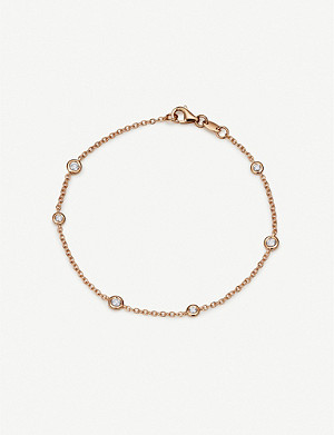 BUCHERER FINE JEWELLERY Floating Diamonds 18ct rose-gold and diamond bracelet