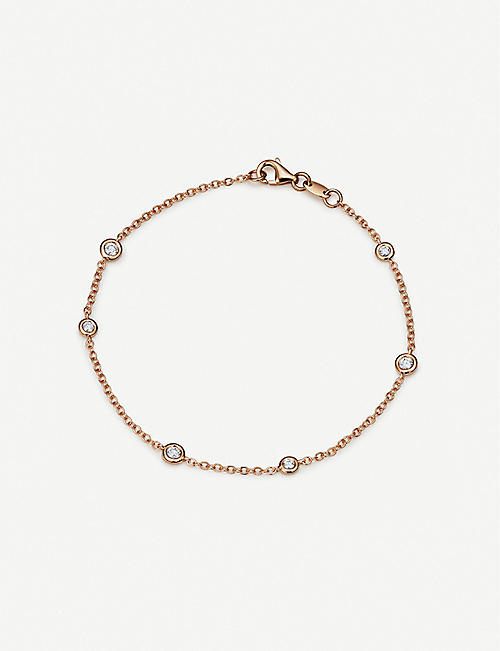 BUCHERER FINE JEWELLERY: Floating Diamonds 18ct rose-gold and diamond bracelet