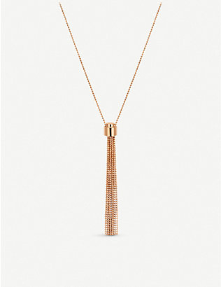 CARL F BUCHERER: Bubbles 18ct rose-gold necklace