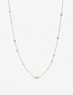 BUCHERER FINE JEWELLERY Floating Diamonds 18ct white-gold and diamond necklace