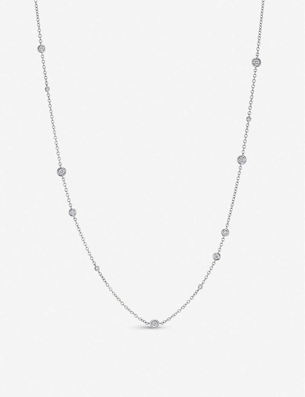 BUCHERER FINE JEWELLERY: Floating Diamonds 18ct white-gold and diamond necklace