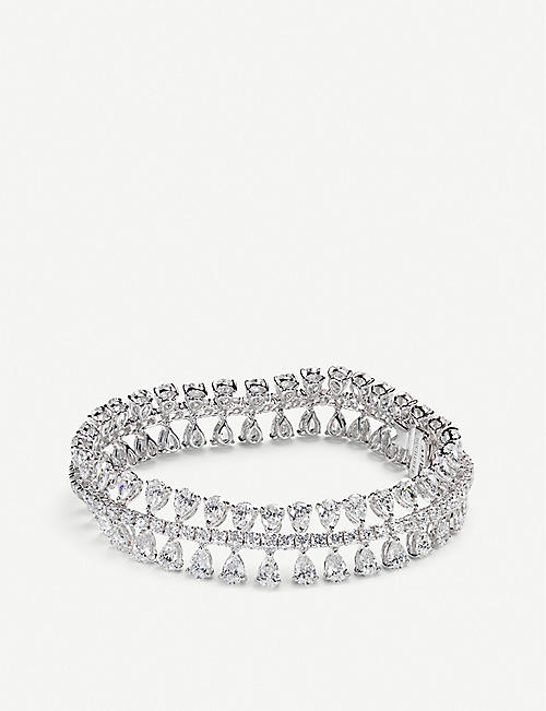 CARL F BUCHERER Soiree diamond and 18ct white-gold bracelet