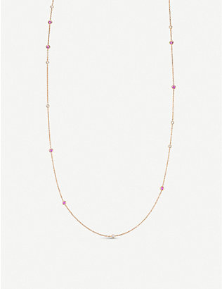 BUCHERER FINE JEWELLERY: Collier 18ct rose-gold, sapphire and diamond necklace