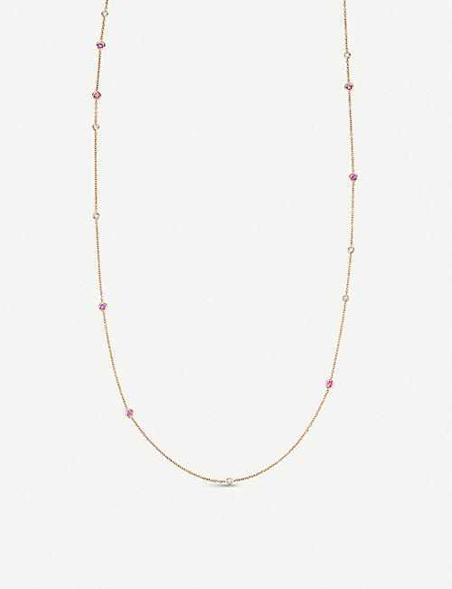 BUCHERER FINE JEWELLERY Collier 18ct rose-gold, sapphire and diamond necklace