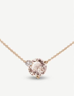 BUCHERER FINE JEWELLERY Peekaboo rose-gold and morganit necklace