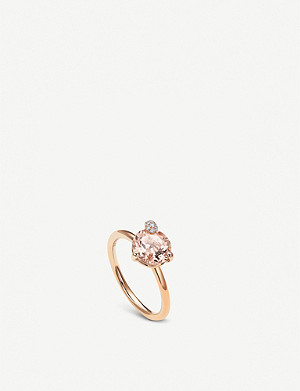 BUCHERER FINE JEWELLERY Peekaboo rose-gold and morganite ring