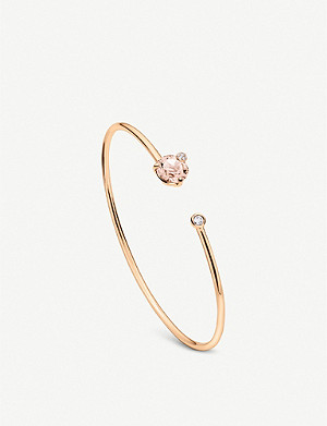 BUCHERER FINE JEWELLERY Peekaboo 18ct rose gold, morganite and diamond bangle bracelet