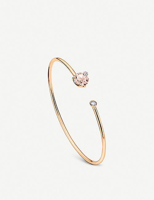 BUCHERER FINE JEWELLERY: Peekaboo 18ct rose gold, morganite and diamond bangle bracelet