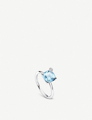 BUCHERER FINE JEWELLERY Peekaboo small 18ct white gold, aquamarine and diamond ring
