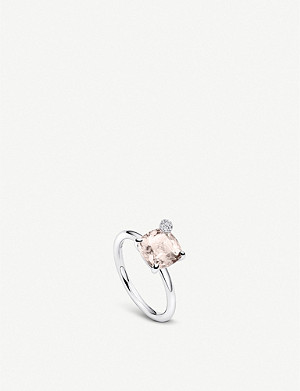 BUCHERER FINE JEWELLERY Peekaboo small 18ct white gold, morganite and diamond ring