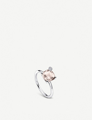 BUCHERER FINE JEWELLERY Peekaboo white-gold and morganite ring