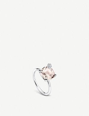 BUCHERER FINE JEWELLERY Peekaboo large 18ct white gold, morganite and diamond ring