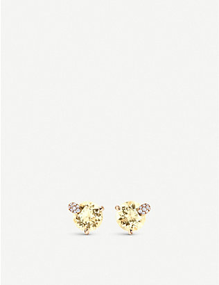 CARL F BUCHERER: Peekaboo 18ct rose-gold, diamond and beryl earrings
