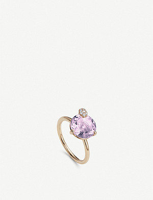 BUCHERER FINE JEWELLERY Peekaboo rose-gold and amethyst ring