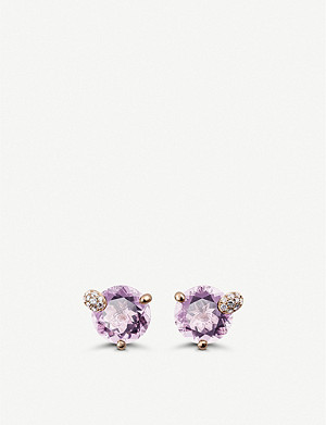 BUCHERER FINE JEWELLERY Peekaboo 18ct rose gold, morganite and diamond earrings