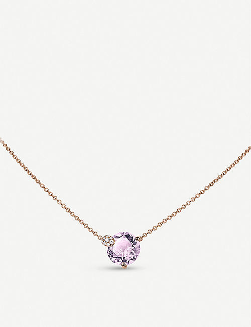 BUCHERER FINE JEWELLERY: Peekaboo rose-gold and amethyst necklace