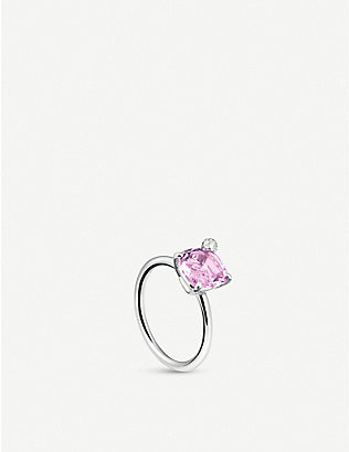 CARL F BUCHERER: Peekaboo 18ct white gold and amethyst ring