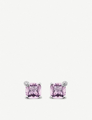 BUCHERER FINE JEWELLERY Peekaboo 18ct white-gold and morganite earrings