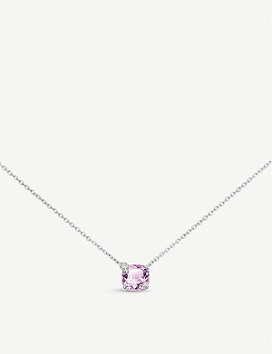 BUCHERER FINE JEWELLERY Peekaboo white-gold and amethyst necklace