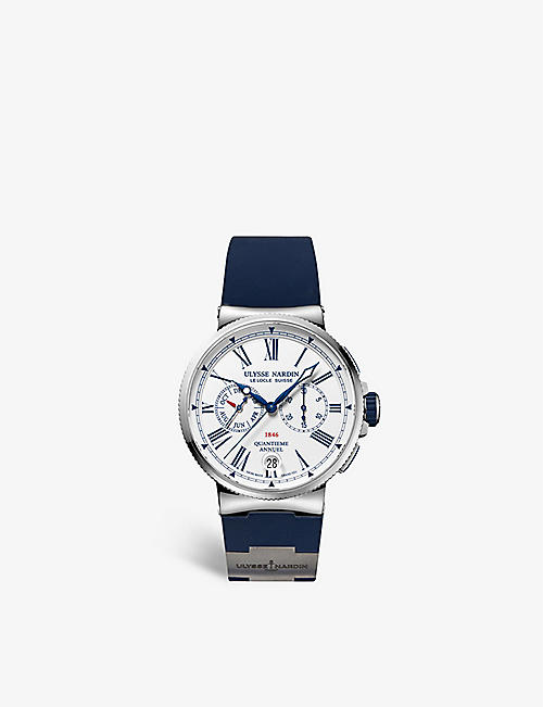 ULYSSE NARDIN: 1533-150/E0 Marine Chronometer stainless steel and rubber watch