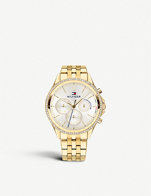 TOMMY HILFIGER Chronograph gold-tone bracelet watch