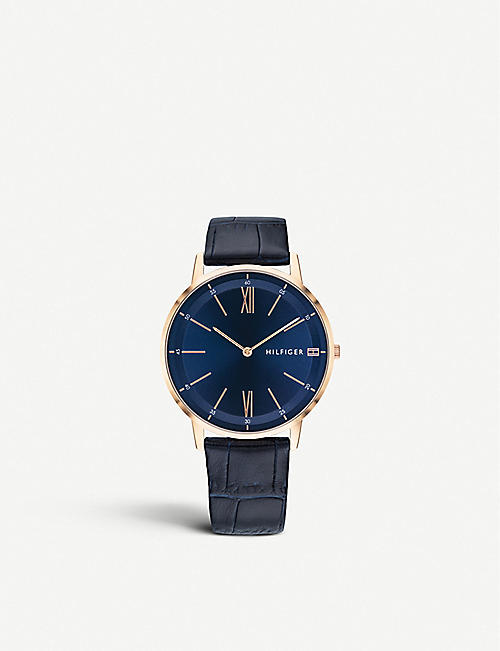 TOMMY HILFIGER 1791515 Cooper leather and rose gold plated watch