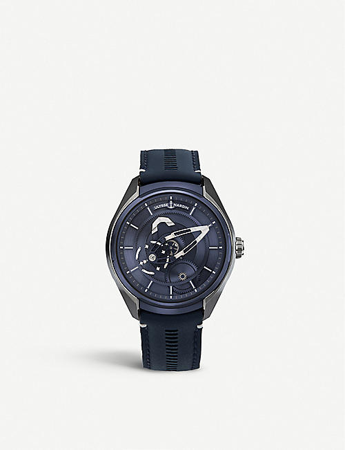 ULYSSE NARDIN: 2303-270/03 Freak titanium and leather automatic watch