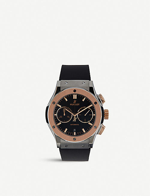 HUBLOT: 521.no.1181.lr classic fusion titanium king gold watch